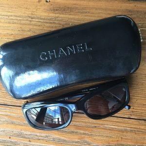 Authentic Chanel Sunglasses with Jeweled Flowers
